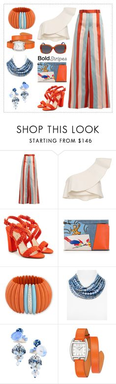 """""""Stripes and more stripes"""" by molly-072 ❤ liked on Polyvore featuring RED Valentino, Isabel Marant, Paul Andrew, Loewe, Kenneth Jay Lane, Fairchild Baldwin, La Hormiga, Hermès and Fendi"""
