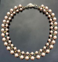 Risultati immagini per diy collar de perlas y piedras swarovski
