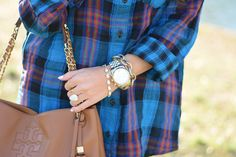 Southern Curls & Pearls: Spring Flannel