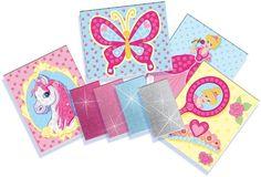 SES Glitter Dreams Mozaïek kunstwerken rommel unieke kaarten prinses paard vlinder spiegel hokjes zelfklevende glittersteentjes leuk resultaat…