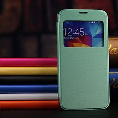 PU Leather Case Hard Back Case with View  Window for Samsung Galaxy S5 I9600(Assorted Colors) – USD $ 4.95
