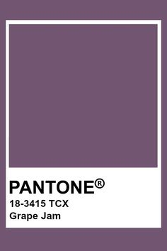 Pantone Color Chart, Pantone Colour Palettes, Pantone Colours, Grape Color, Colour Board, Color Swatches, Color Of The Year, Color Theory, Shades Of Purple