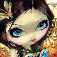 Fairy Face 183 Jasmine Becket-Griffith Art Steampunk Fantasy SIGNED 6x6 PRINT