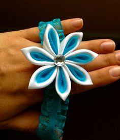 Kanzashi Flower Elastic Headbands For Babies/Children