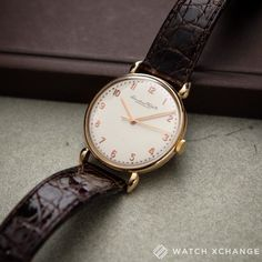 IWC Classic // A vintage eighteen-carat rose-gold IWC Schaffhausen. This manual-winding reference 390 cal.60 was first delivered on the 6th of June 1947. This watch was fully restored by IWC in 2013 and serviced by them in April 2016. It comes with all the receipts and paperwork confirming the above as well as an Archive Extract from the Manufacturer // Available soon at http://ift.tt/1qIwSwQ