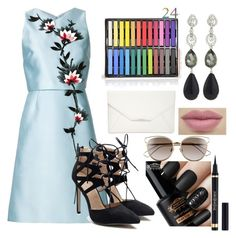 """Untitled #32"" by perlahak on Polyvore featuring Carolina Herrera, Oscar de la Renta, Style & Co., Christian Dior and Yves Saint Laurent"
