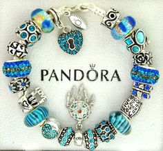 Authentic pandora silver charm bracelet with charms love turqouise dream catcher #Pandoralobsterclaspclaw #European #dreamcatcher #LiveLaughLove