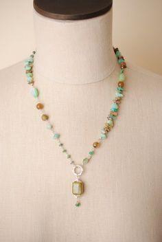 peru005 silver gemstone pendant necklaces for women