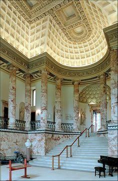 Marble Hall, Holkham Hall by Xavier de Jauréguiberry, via Flickr