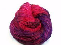 Hand Dyed Merino Shawl Yarn in Princess 20 by DragonflyDyewerx, $32.00