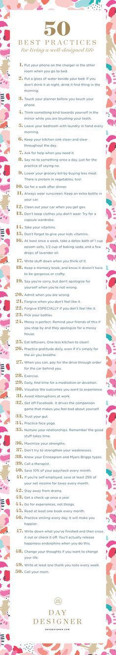 50 things to live a