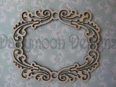 A Lovely Ornate Laser Cut Wooden Frame 14cmx 14cm £1.21