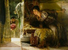 "Sir Lawrence Alma-Tadema, ""Welcome Footsteps,"" 1883"