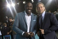 When he posed with Idris Elba and the world imploded from so much sexy in one picture. | 35 Times Charlie Hunnam Stole Your Heart