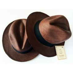 Handmade Fedora Panama Hat in Brown Size S by TheSecretSin on Etsy