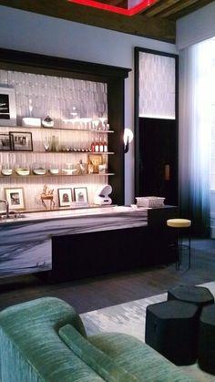 Black, grays, white and minty green combination_charles zana / hôtel particulier de miramion, champs elysées