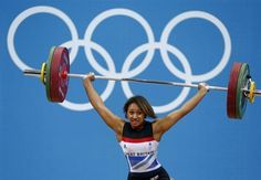Great Britain's Zoe Smith competes on the women's 58Kg Group A weightlifting competition.