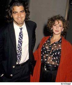 George Clooney with his first and only wife Talia Balsam. m. 1989–1993)