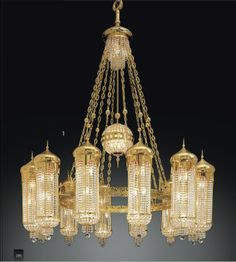 Ottoman Crystal CH952 French Empire Chandelier, Bronze Chandelier, Antique Chandelier, Beaded Chandelier, Antique Lamps, Vintage Lamps, Chandelier Lighting, Chandeliers, Sand Glass