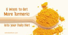 Turmeric is a powerful anti-inflammatory and deeply healing food. Here are 6 ways to get more of it into your daily diet.