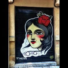 Street art in Pamplona. http://instagr.am/p/MyTQBphPOe/