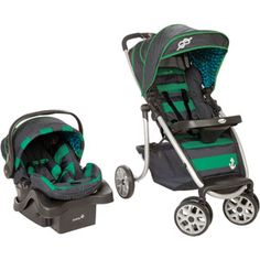 Safety 1st SleekRide Premier Travel System, Sail Away Car Seat & Stroller.  $215 at Walmart. I like these colors the best, but any boy-colored Car Seat will do!  ONLY item I really want NEW, for safety.