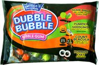 Dubble Bubble's Halloween bubble gum pack is peanut-free.