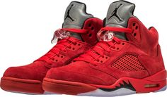 Air Jordan 5 Red Suede Release Date. The Red Suede Air Jordan 5 in University Red and Black resembles the Raging Bull release that debuts in July Air Jordan Red, Jordan 5, Air Jordan Shoes, Jordan Retro, School Looks, Jordan Basketball Shoes, Basketball Court, Basketball Shooting, Basketball Goals