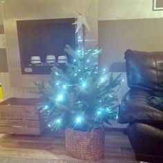 Ei voinut vastustaa enää. Olkoon tämä vaikka adventtikuusi  #joulukuusi #christmastree #christmas #jul #joulu #kuusi #myhome #home #interior #sisustus #livingroom #olohuone