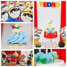 Cute Pinocchio themed birthday party via Kara's Party Ideas KarasPartyIdeas.com