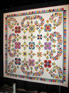 Happy, Happy, Happy by Nancy Arseneault photographed @Houston International Quilt Show by dog.happy.art, via Flickr