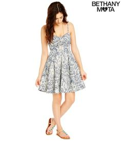 Printed Chambray Dress -Aeropostale Such a pretty dress!