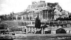 Athens_stiloi Olybiou Dios 1 Acropolis, Athens Greece, Archaeology, Old Photos, The Neighbourhood, Greek, History, Monuments, City