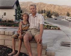 ...Visit the house I grew up in and my parents built...(this is a photo of my Dad and I on the garden retaining wall of our home in Canyon Country, CA 1983 taken by Joel Sternfeld)