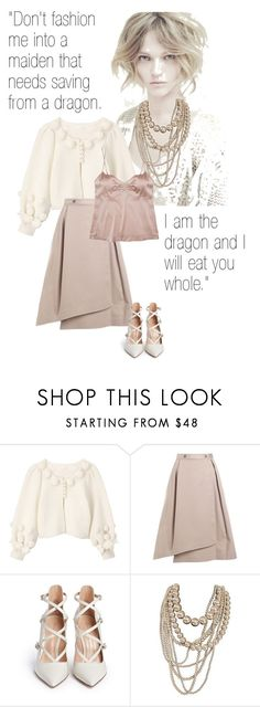 """I am the dragon"" by tasteofbliss ❤ liked on Polyvore featuring Alberta Ferretti, Jil Sander Navy, Gianvito Rossi and JULIANNE"