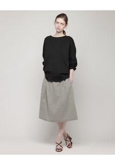 La Garçonne Moderne / Elastic Waist Skirt | La Garçonne