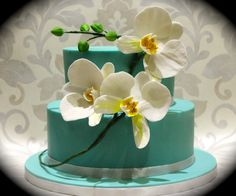 2 Tier Moth Orchid Cake