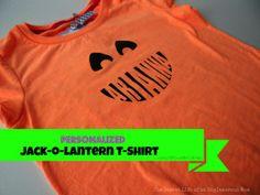 Personalized jack-o-lantern t-shirts using Silhouette Cameo