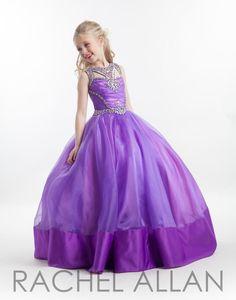 Rachel Allan Perfect Angels 1615 Little Girls Pageant Cotillion Dress