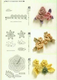 Irish Crochet Flower (chart + tutorial) by tonya.This Pin was discovered by Mic Marque-pages Au Crochet, Crochet Gratis, Crochet Motifs, Thread Crochet, Irish Crochet, Crochet Stitches, Crochet Coaster, Russian Crochet, Crochet Doilies