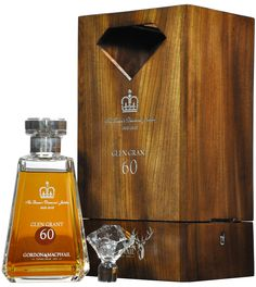 A remarkable bottling of Glen Grant distilled in 1952 and bottled in 2012 at 60 years of age for the Queen's Diamond Jubilee by Gordon & MacPhail. Presented in a bespoke, lockable wooden presentation case and limited to just 85 decanters this is a stunning and remarkable bottling from G&M and quite incredible whisky to boot.