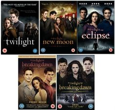 The Complete Twilight Movies 1 - 5 DVD Collection: Twilight / New Moon / Eclipse / Breaking Dawn Part 1 / Breaking Dawn Part 2 ENTERTAINMENT ONE http://www.amazon.co.uk/dp/B00DGOUNFO/ref=cm_sw_r_pi_dp_va5Eub1KFSJR1