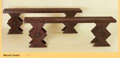 """""""marcel Coard""""-pair of oak bench-"""