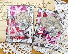 "ATC set - Dragonfly - gelli print... MakaArt (@maka_art_14) auf Instagram: ""Dragonfly #artisttradingcards #gelliprint #gelliplate #acryliccolor #decoartmedia #stamps #stencils…"""