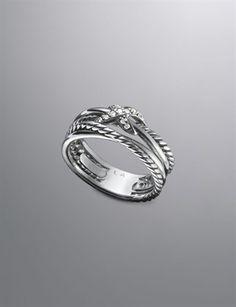 Pave Diamond Crossover X Ring, David Yurman...hmmm