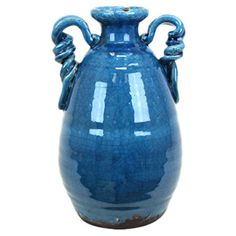 Found it at Wayfair - Ceramic Tuscan Vase in Turquoise