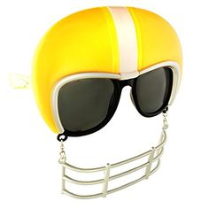 Sunstaches  Yellow Football Helmet Dark Lens Game Shades -- Find out more about the great product at the image link.Note:It is affiliate link to Amazon. #FootballPassion