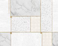 Kup w showroomie Internity Home lub Prodesigne: Tapeta Wall & Deco Wet System 2017 Coco' Floor Texture, Tiles Texture, Floor Patterns, Tile Patterns, Bathroom Wallpaper, Wall Wallpaper, Art Deco Bathroom, Wall Decor Design, Promotional Design