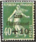 """1929 - Seminatrice su fondo unito - Soprastampato """"Cassa d'Ammortamento"""" - 40 c. + 10 c."""