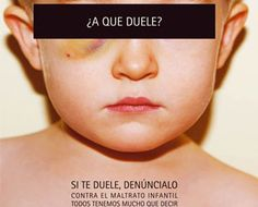 Cartel de actuación dirigido hacia las victimas que sufren maltrato infantil